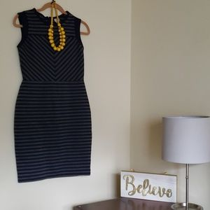 Navy blue and gray dress